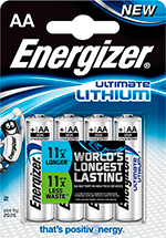 Energizer Ultimate Lithium AA -paristo 1,5 V (4 kpl)